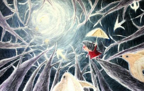水云魅影丨新月,一小钩